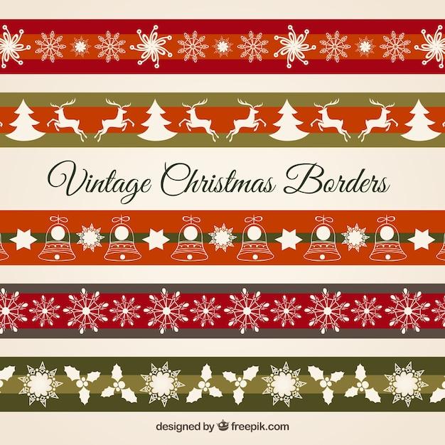 spesso Confini di Natale Vintage   Scaricare vettori gratis WA71