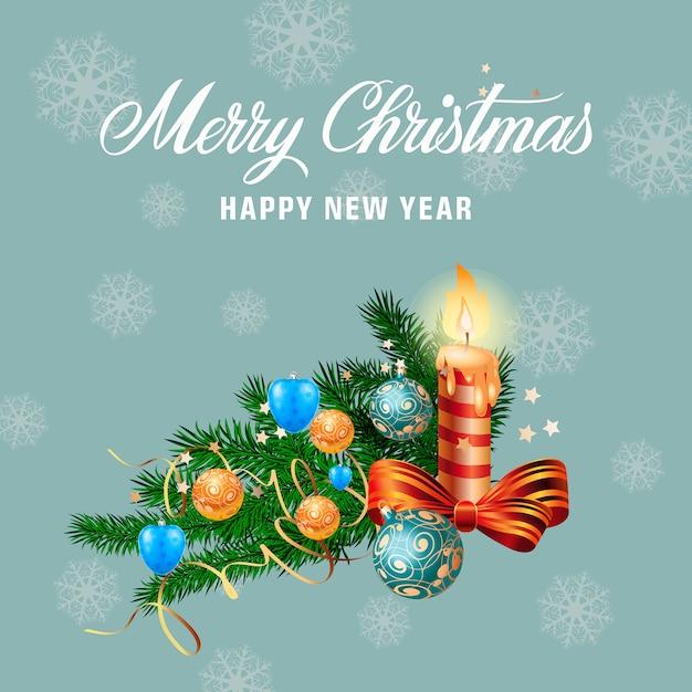 Immagini Natale E Capodanno.Congratulazioni Per Natale E Capodanno Scaricare Vettori Gratis