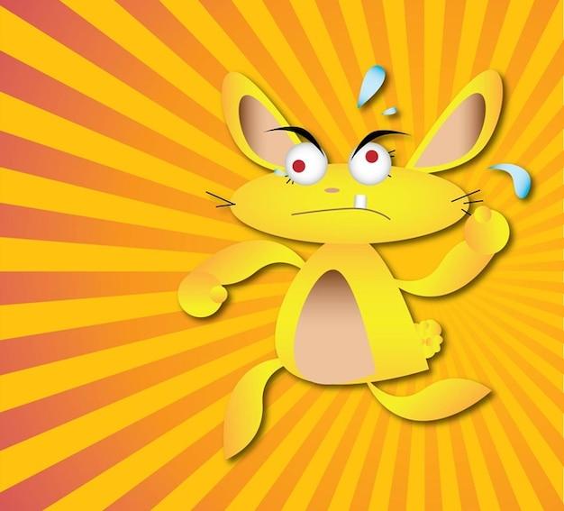 Coniglio cartone animato scaricare vettori gratis