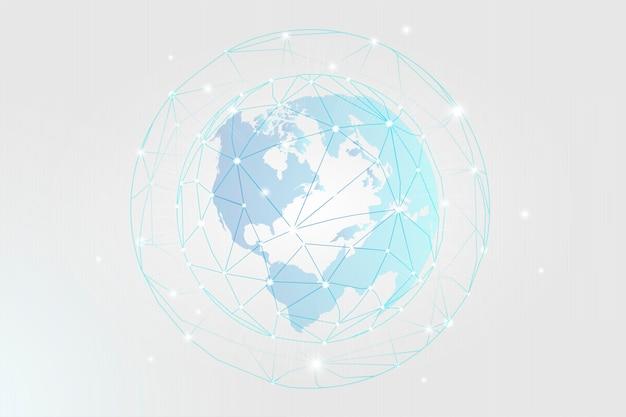 Connessione in tutto il mondo Vettore gratuito