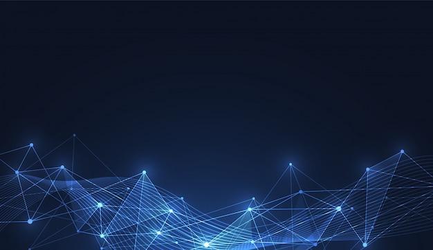 Connessione internet, senso astratto della scienza Vettore Premium