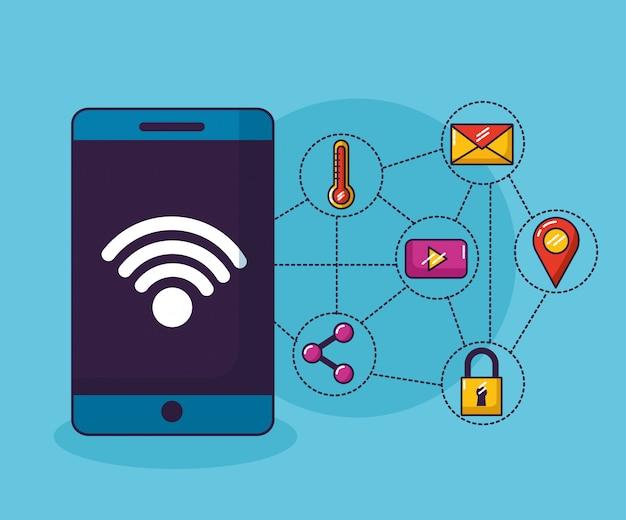Connessione wifi gratuita Vettore gratuito
