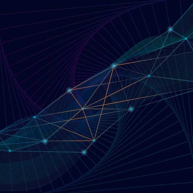 Connessioni sfondo blu Vettore gratuito
