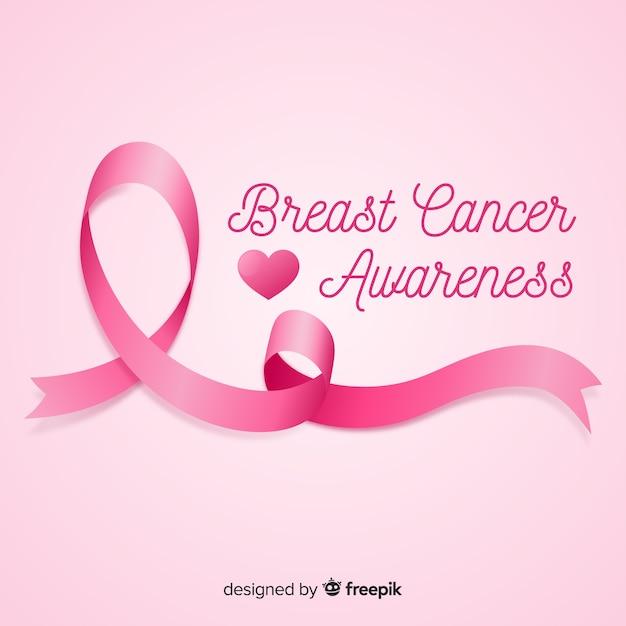 Consapevolezza del cancro al seno sfondo rosa Vettore gratuito