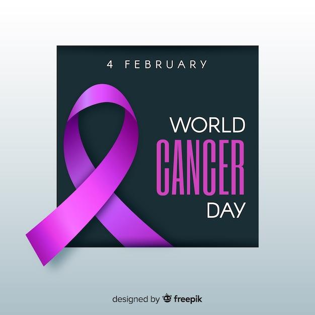 Consapevolezza sulla giornata mondiale del cancro Vettore gratuito