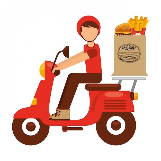 Consegna del cibo Vettore Premium