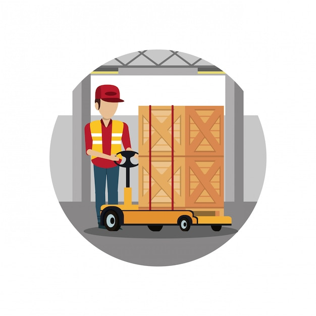 Consegna e logistica Vettore Premium