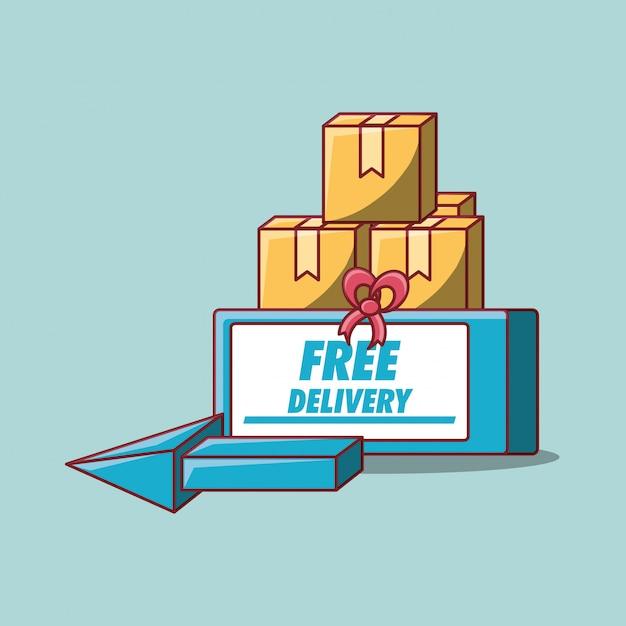Consegna gratuita Vettore Premium