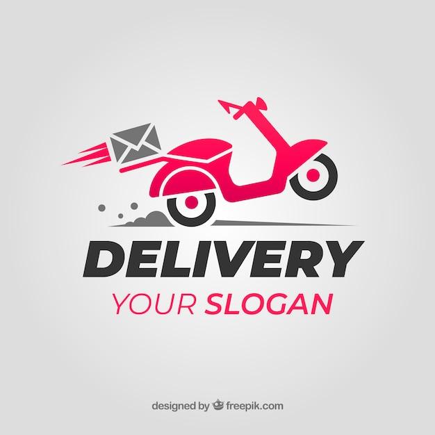 Consegna logo per azienda Vettore gratuito