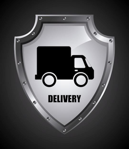 Consegna semplice elemento Vettore gratuito