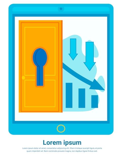 Consulente portatile che predice i rischi finanziari, incidente Vettore Premium