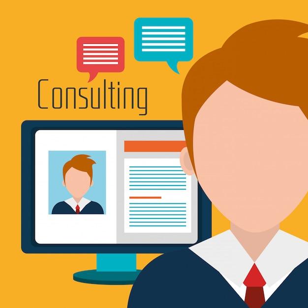Consulenza aziendale professionale Vettore gratuito