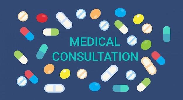 Consultazione medica online doctor health care clinics hospital service medicine banner Vettore Premium