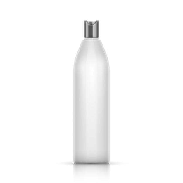 Contenitore in plastica bianca per shampoo Vettore Premium