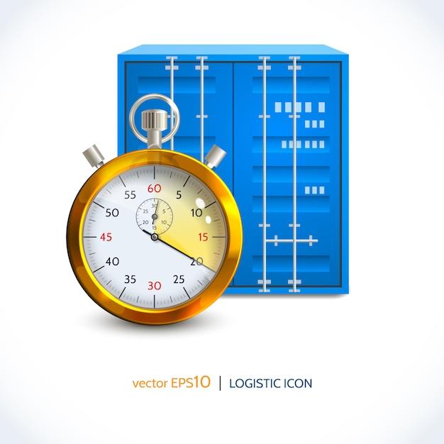 Contenitore per gancio gru icona logistica Vettore Premium
