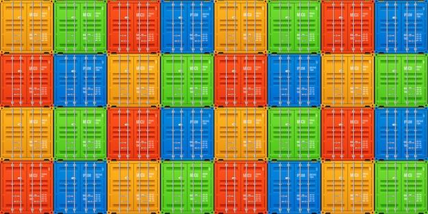 Contenitori di carico impilati Vettore Premium