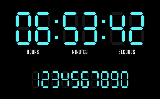 orologio digitale web