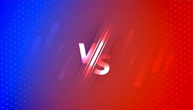 Contro lo schermo dello schermo in gradiente rosso e blu Vettore gratuito