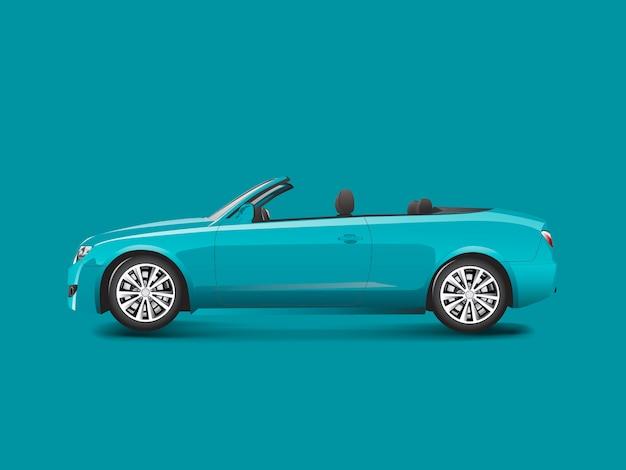 Convertibile blu in un vettore blu della priorità bassa Vettore gratuito