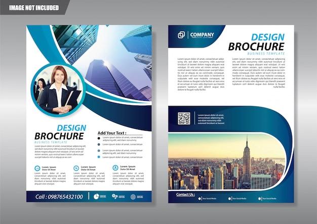 Copertina brochure flyer o opuscolo relazione annuale Vettore Premium