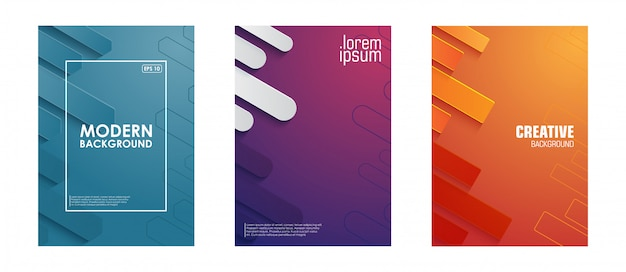 Copertina minimalista astratto geometrico Vettore Premium