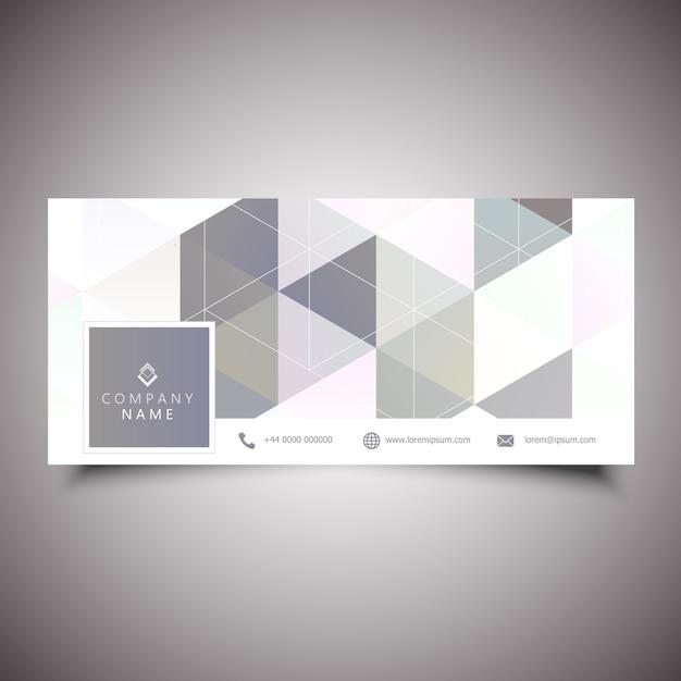 Copertura per social media con design a basso contenuto di poligoni Vettore gratuito