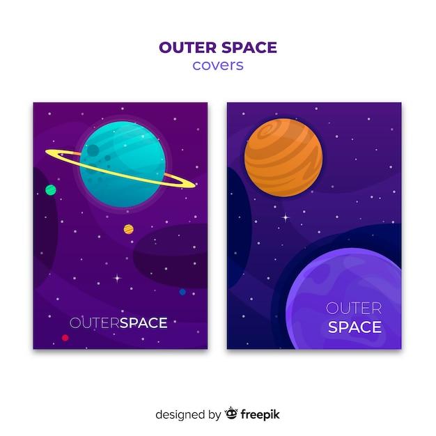 Coperture dello spazio esterno sfumato Vettore gratuito