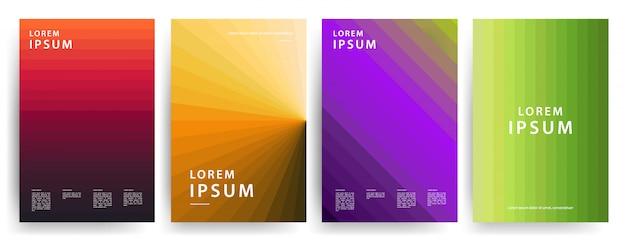 Coperture minime. fantastici gradienti geometrici. Vettore Premium