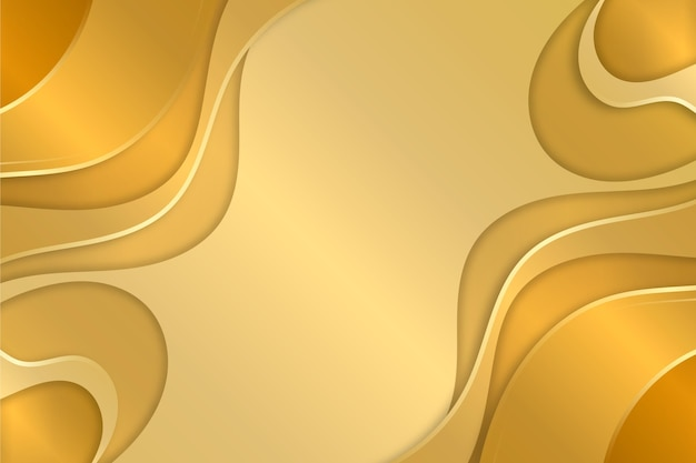Copia spazio liquido oro lusso sfondo Vettore gratuito