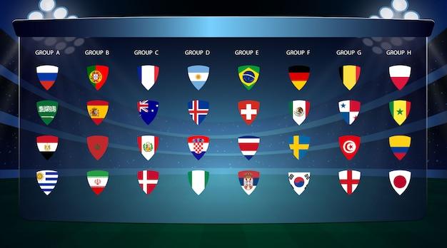 Coppa di calcio Vettore Premium