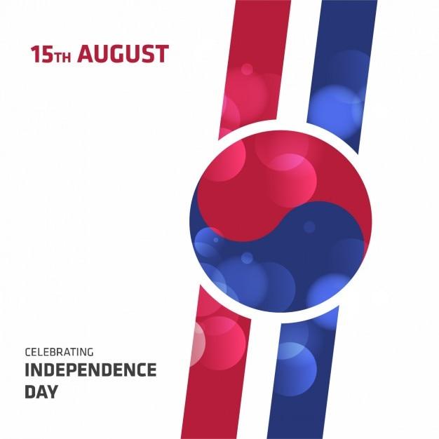 Corea independence day background disegno Vettore gratuito