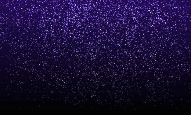Coriandoli viola. particelle glitter oro. Vettore Premium