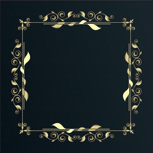 Cornice bordo ornamentale dorato Vettore gratuito
