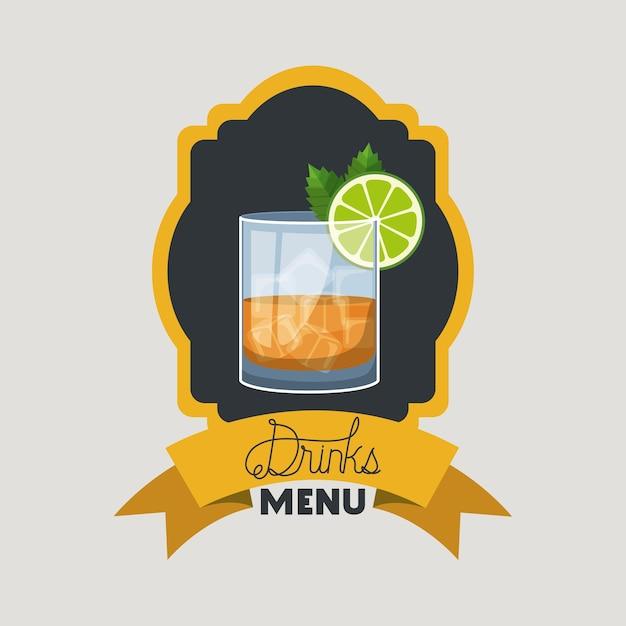Cornice cocktail fresca e tropicale Vettore Premium