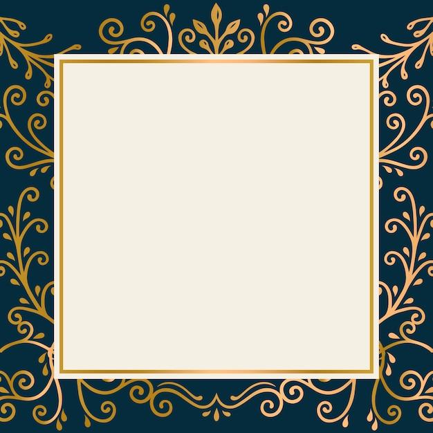 Cornice d'oro Vettore gratuito