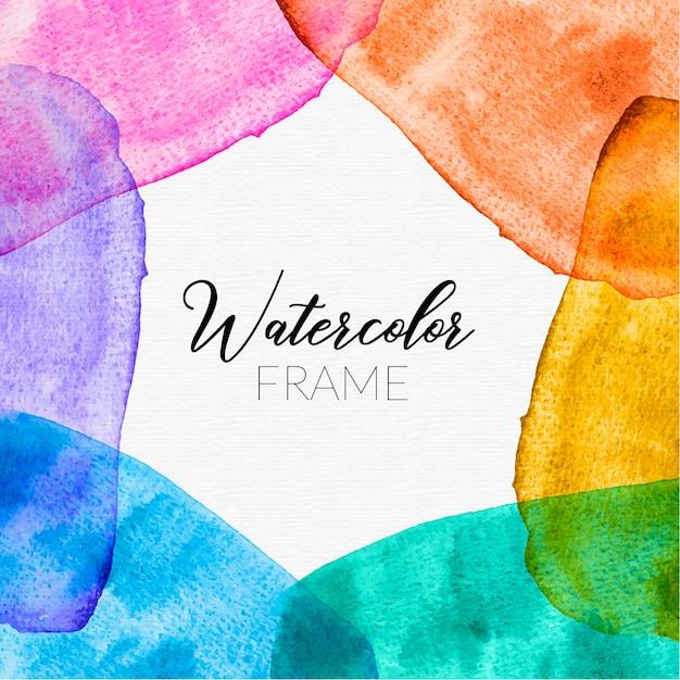 Cornice dell'acquerello arcobaleno luminoso Vettore gratuito