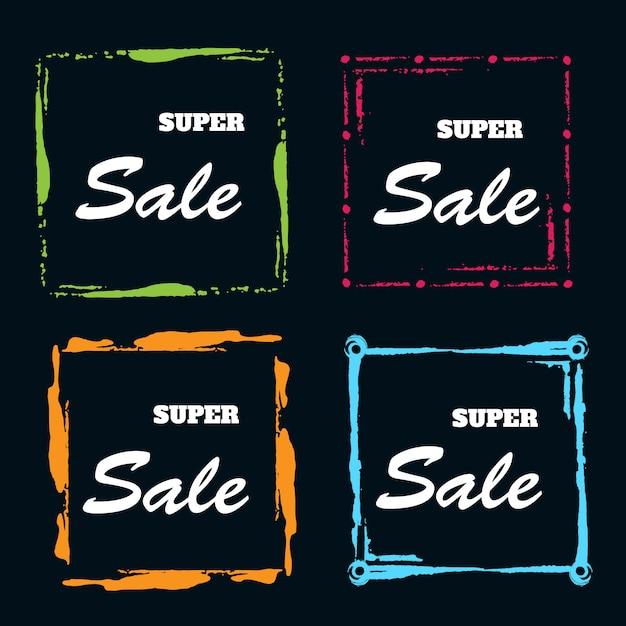 Cornice di banner di vendita dell'acquerello Vettore gratuito