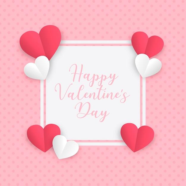 Cornice di carta amore per san valentino Vettore gratuito