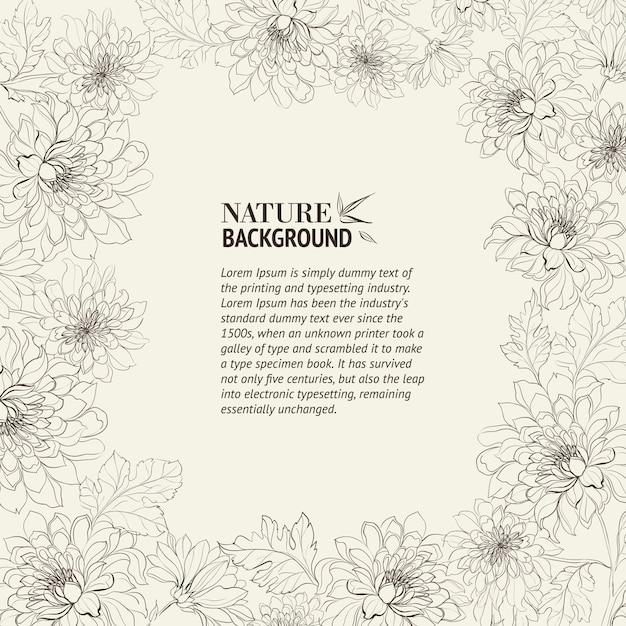 Cornice di crisantemo Vettore gratuito