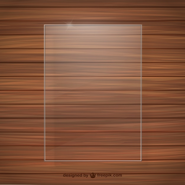 Cornice di cristallo struttura di legno Vettore gratuito