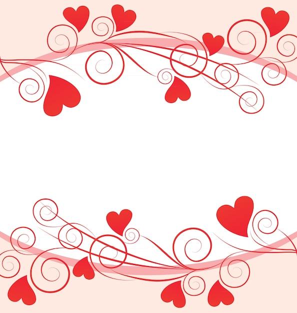 Cornice di cuori rossi su sfondo bianco scaricare for Immagini di cuori rossi