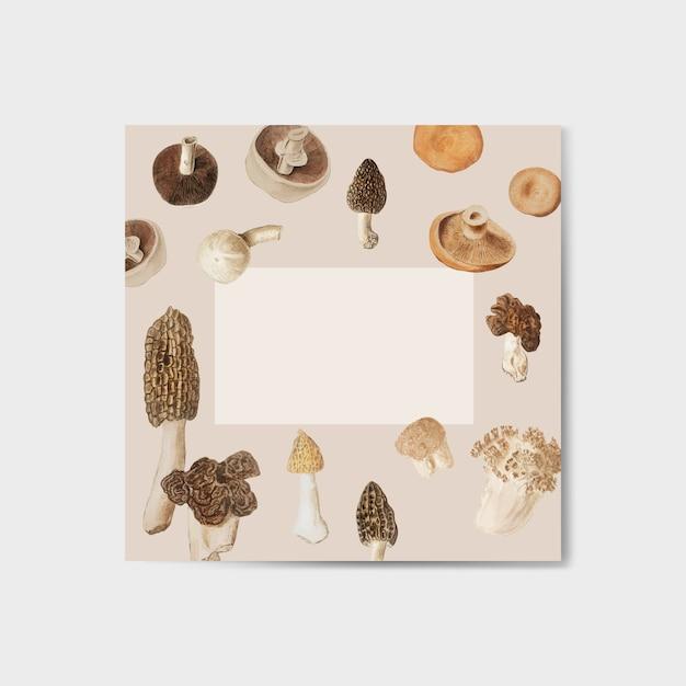 Cornice di design a fungo Vettore gratuito