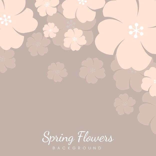 Cornice di fiori pastello giapponese Vettore gratuito
