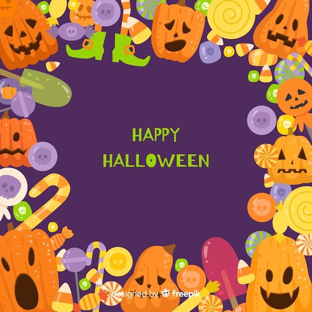 Cornice Di Halloween Disegnata A Mano Bella Scaricare Vettori Gratis