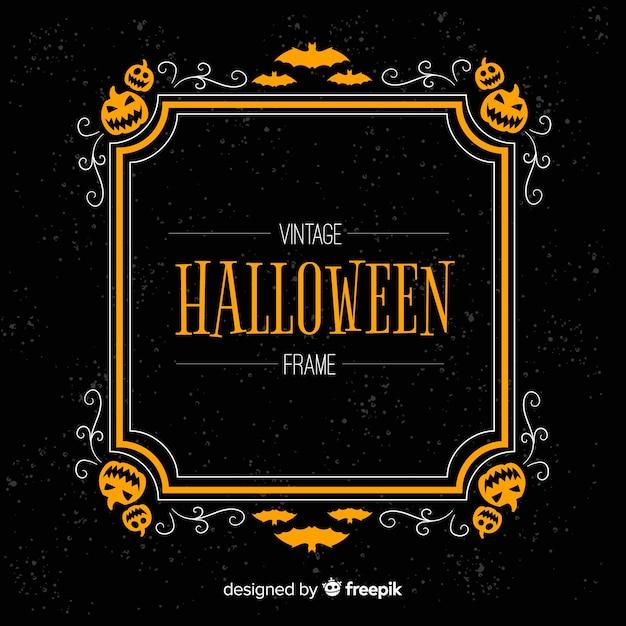 Cornice Di Halloween Raccapricciante Con Stile Vintage Scaricare