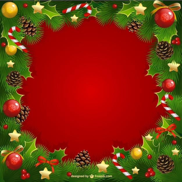 Cornici Foto Di Natale.Cornice Di Natale Con Vischio Scaricare Vettori Gratis