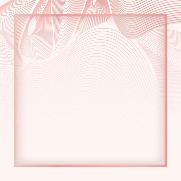 Cornice di sfondo della linea di contorno Vettore gratuito