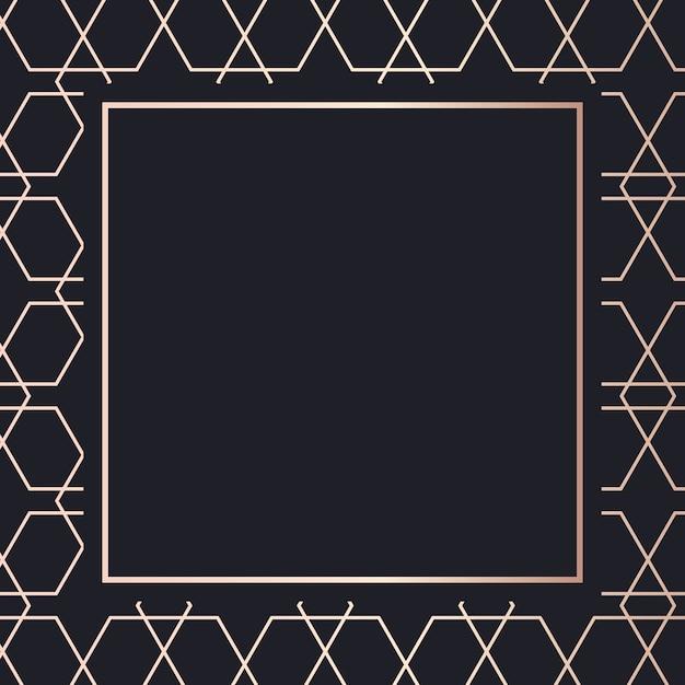 Cornice dorata modello arte sfondo Vettore Premium