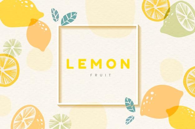 Cornice fantasia a limone Vettore gratuito