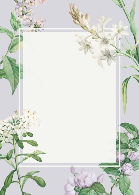 Cornice floreale decorata Vettore gratuito